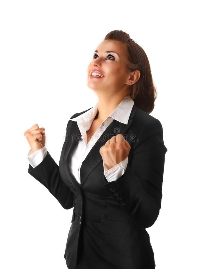 Femme moderne réussie d'affaires photos stock