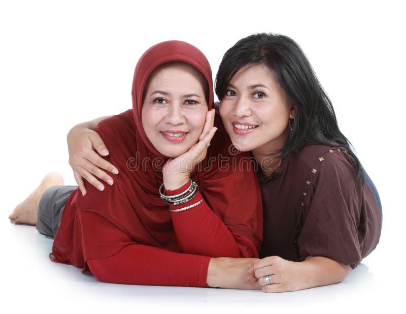 Femme musulman avec son descendant photographie stock