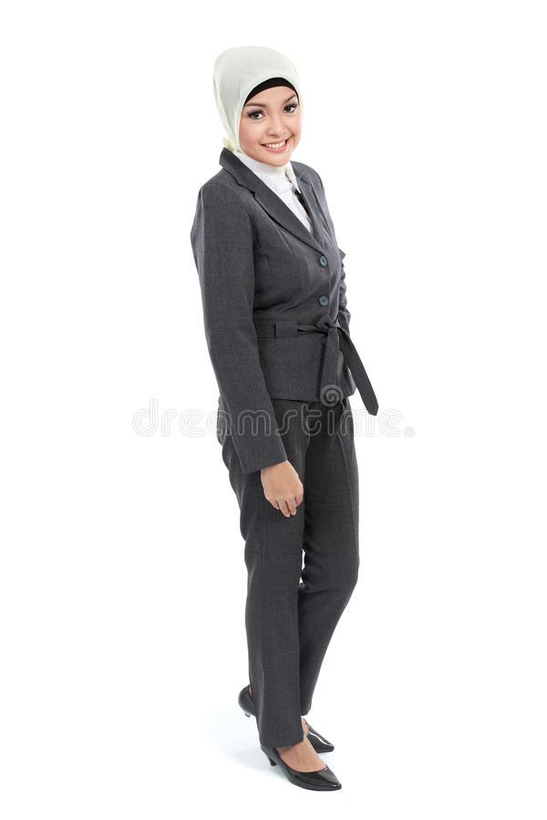 Femme musulmane d'affaires images stock