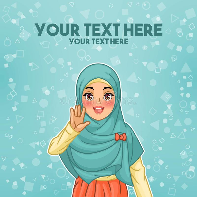 Femme musulmane ondulant avec sa paume illustration libre de droits