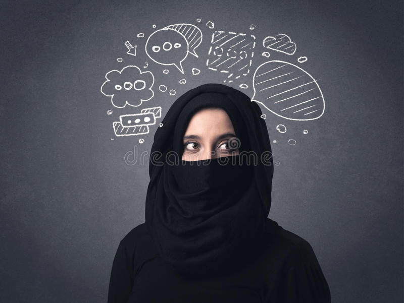 Femme musulmane portant Niqab photographie stock