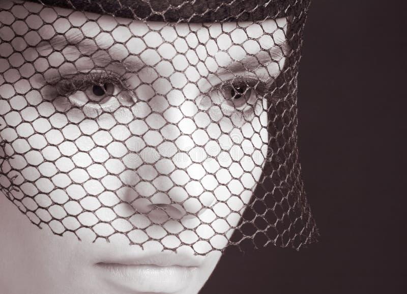 Femme mystérieux image stock
