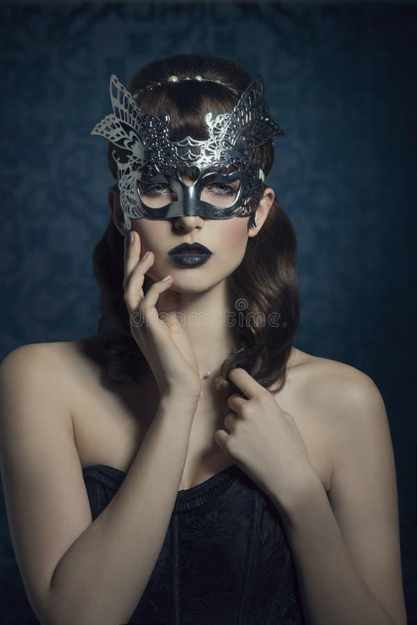 Femme mystérieux images stock