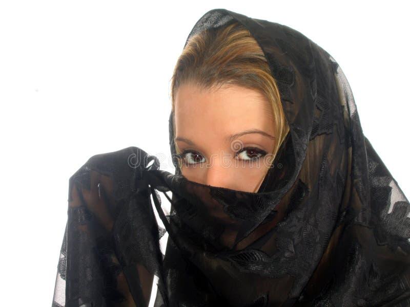Femme mystérieux photographie stock libre de droits