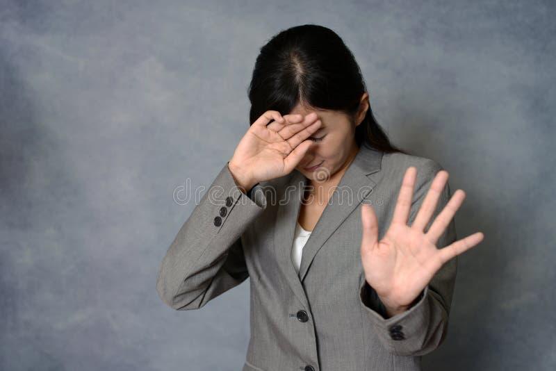 Femme ne disant aucune photo photo stock