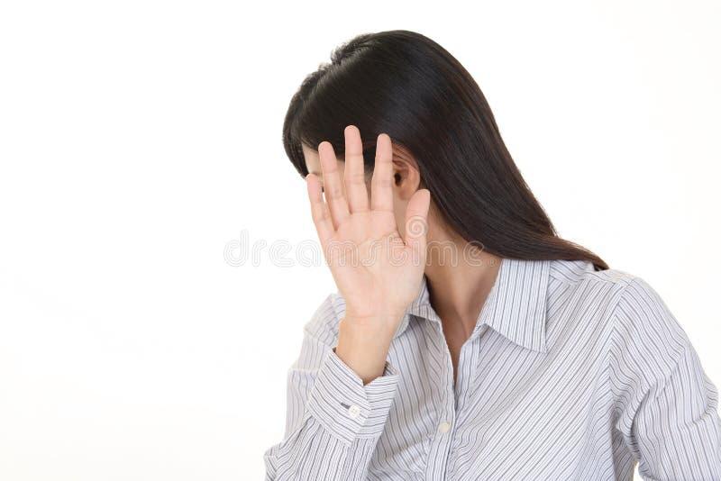 Femme ne disant aucune photo photo libre de droits