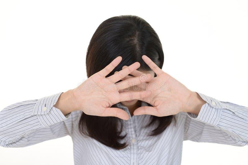 Femme ne disant aucune photo photographie stock libre de droits