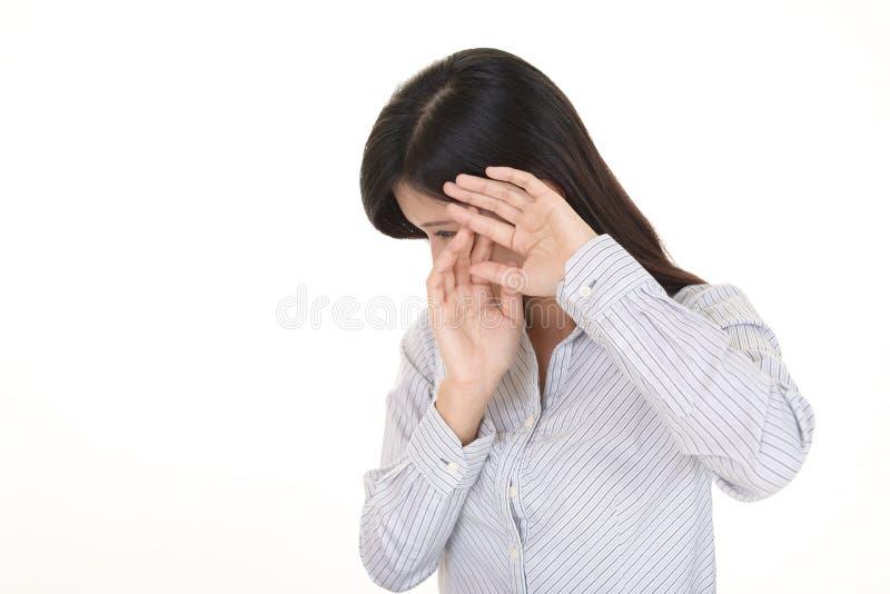 Femme ne disant aucune photo image libre de droits