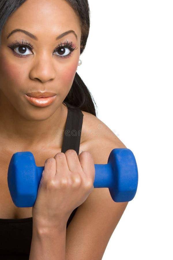 femme noire de forme physique image stock