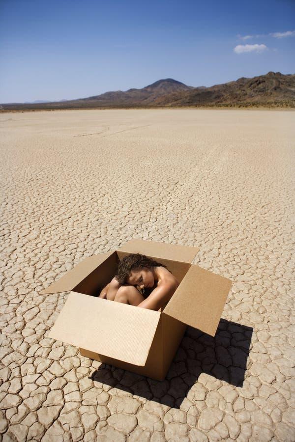 Femme Nu Dans Le Désert. Image stock