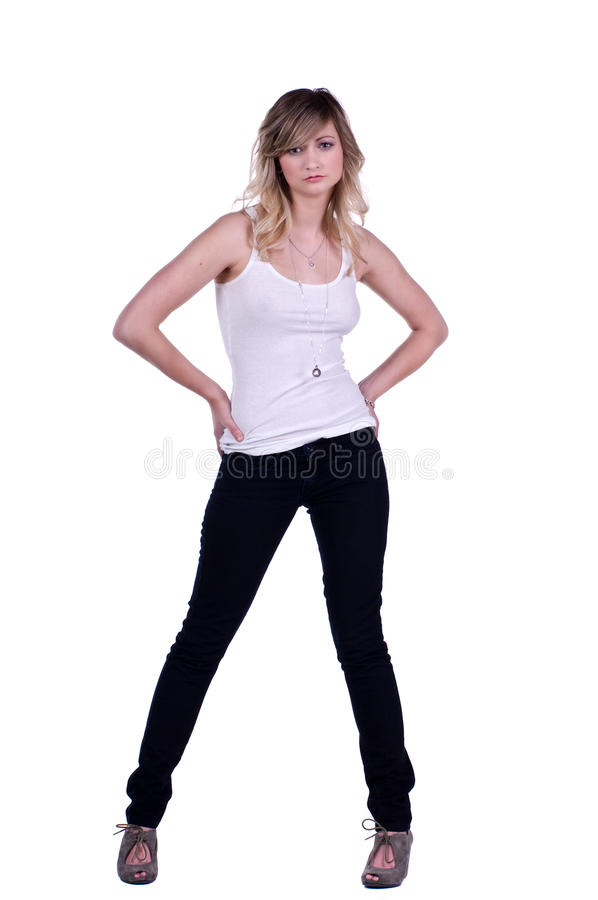 Femme occasionnel photo stock
