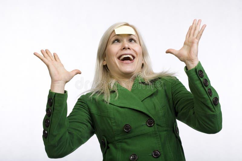 femme occupée de visage d'expression images libres de droits