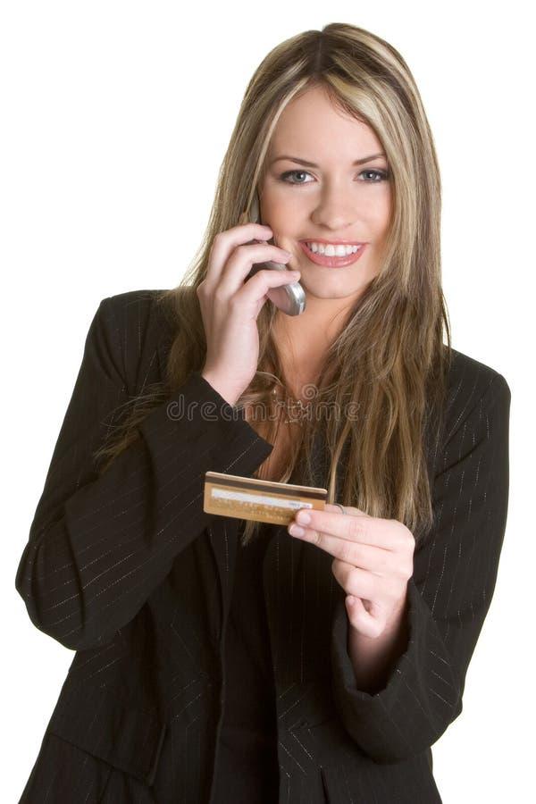 Femme par la carte de crédit d'affaires photos libres de droits
