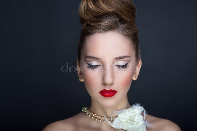 Femme parfaite de visage photo libre de droits