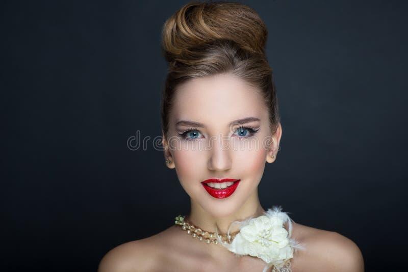 Femme parfaite de visage images stock