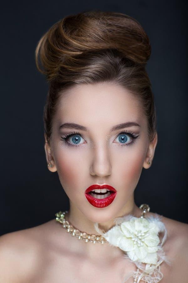 Femme parfaite de visage image stock