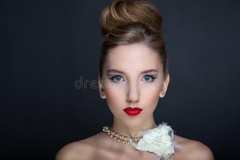Femme parfaite de visage photographie stock libre de droits