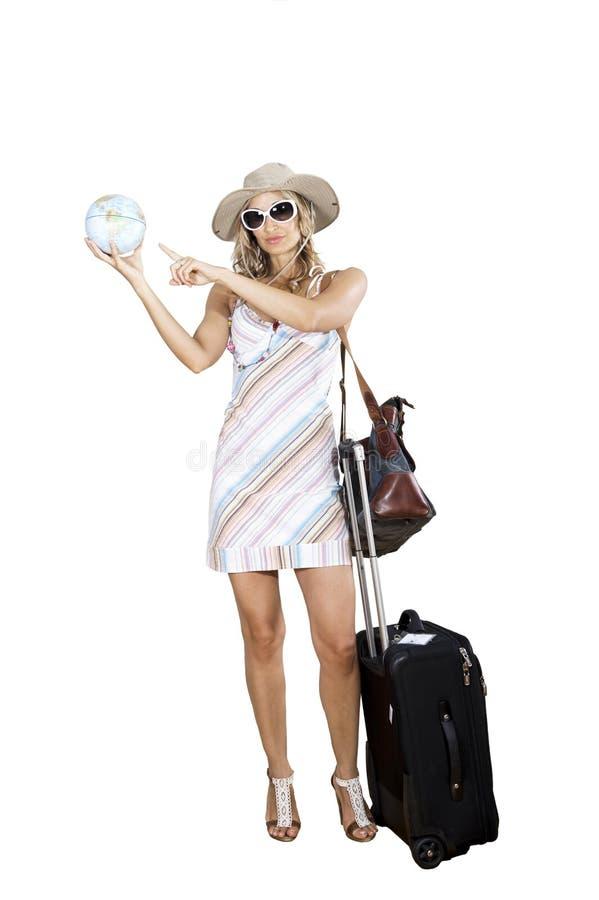 Femme partant en vacances photos libres de droits