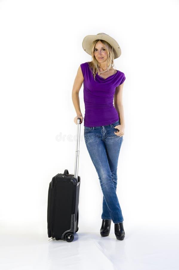 Femme partant en vacances images libres de droits
