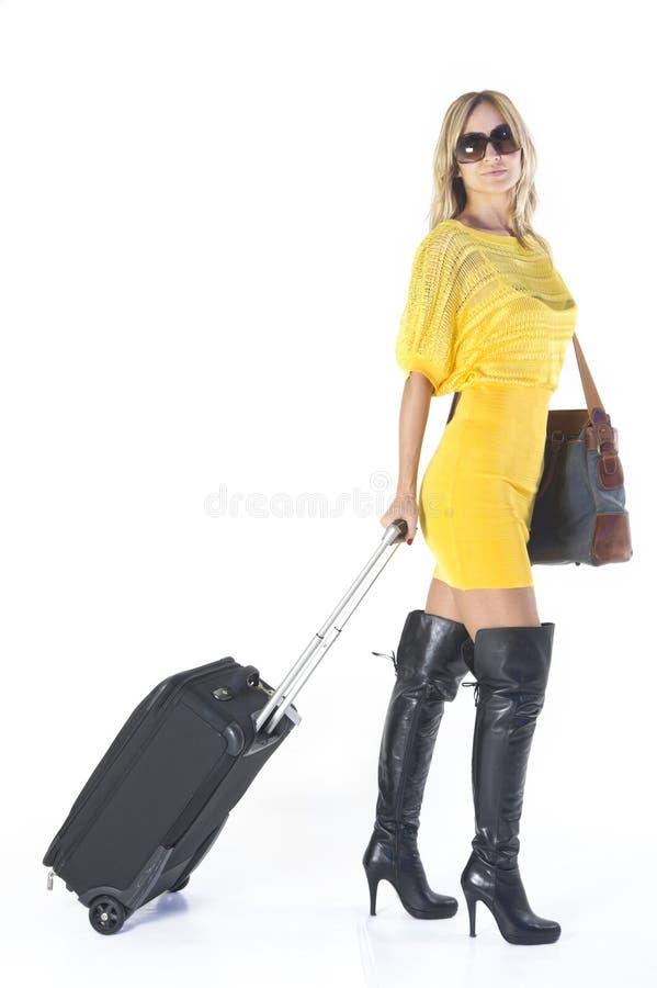 Femme partant en vacances photo libre de droits