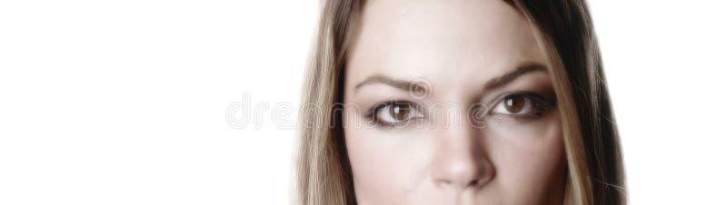 Femme partielle face-5 images stock