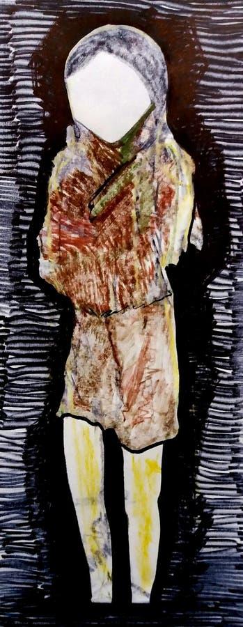 Femme Peinture Mode croquis Les gens images libres de droits