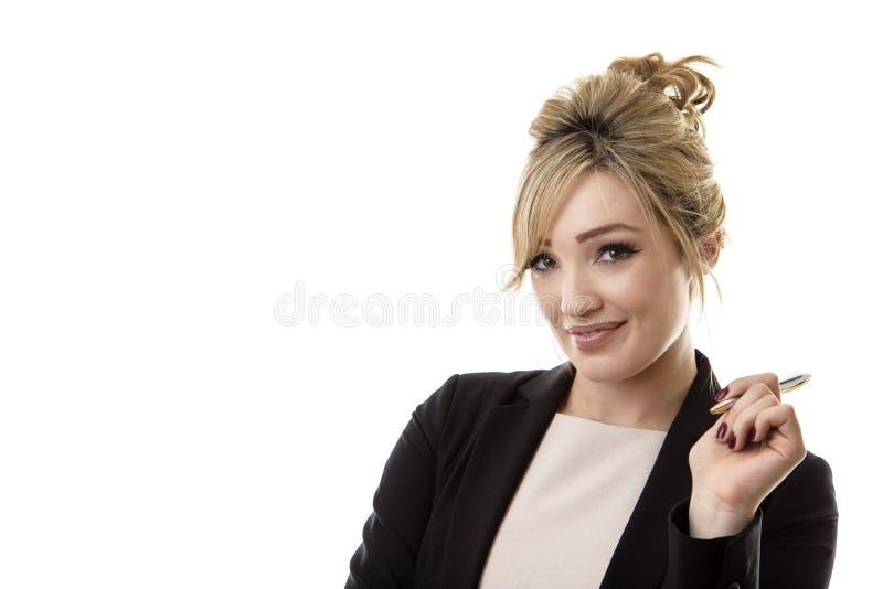 Femme pensant photographie stock libre de droits