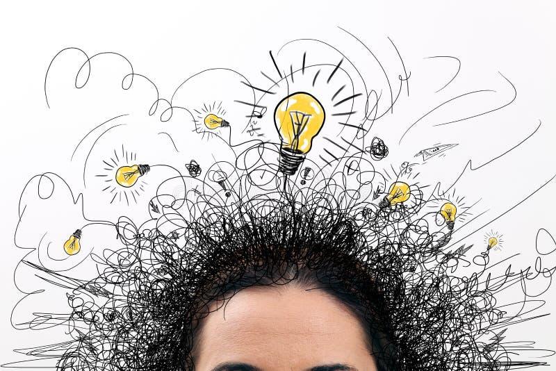 Femme pensant illustration stock