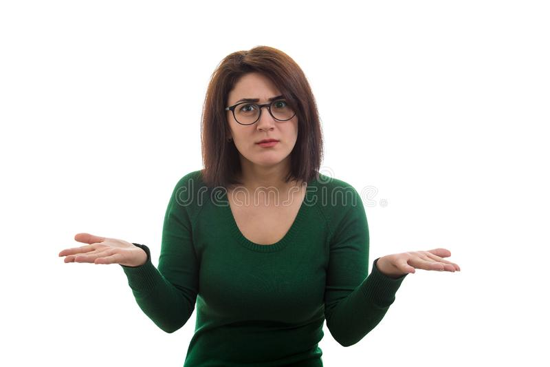 Femme perplexe photo stock