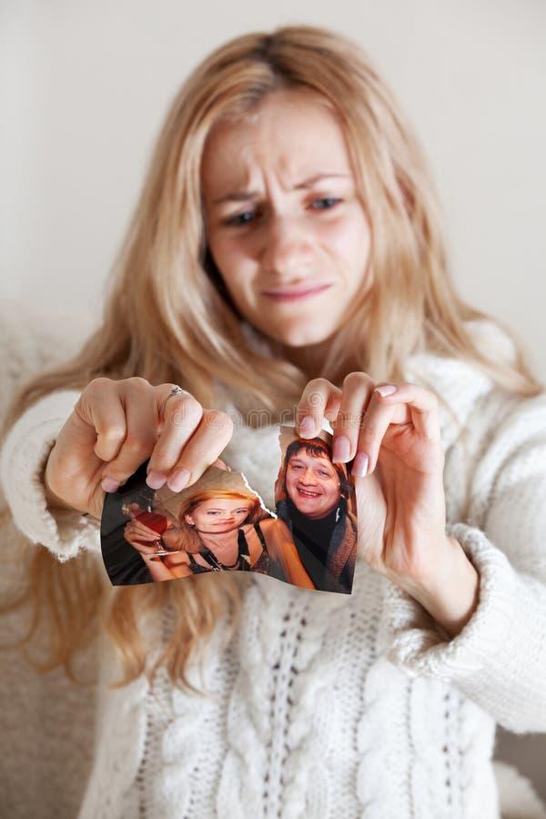 Femme, photo violente images libres de droits