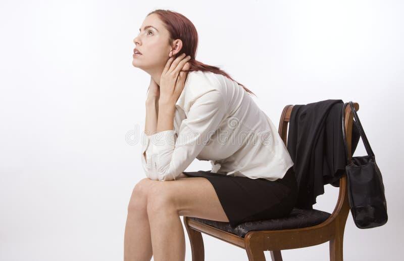 Femme plaintif image stock