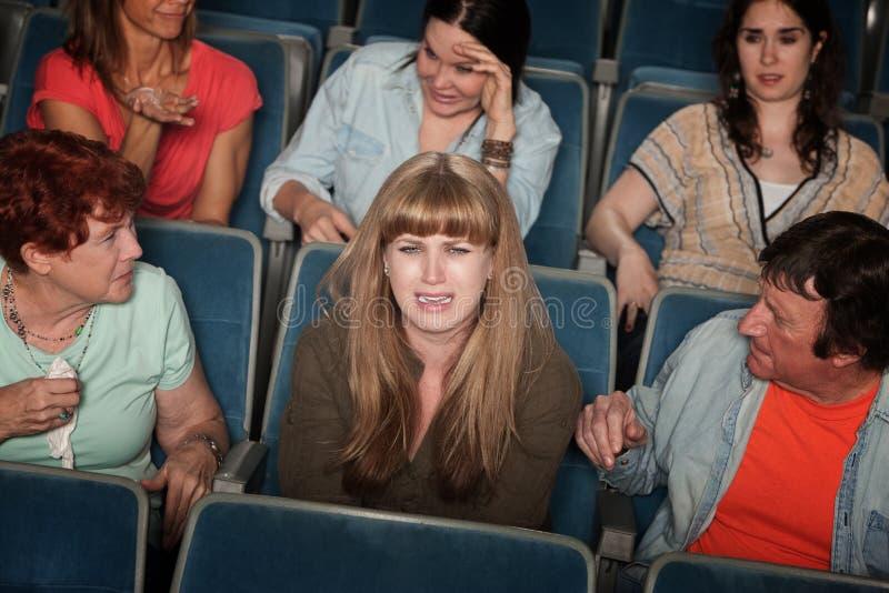 Femme pleurant photo stock