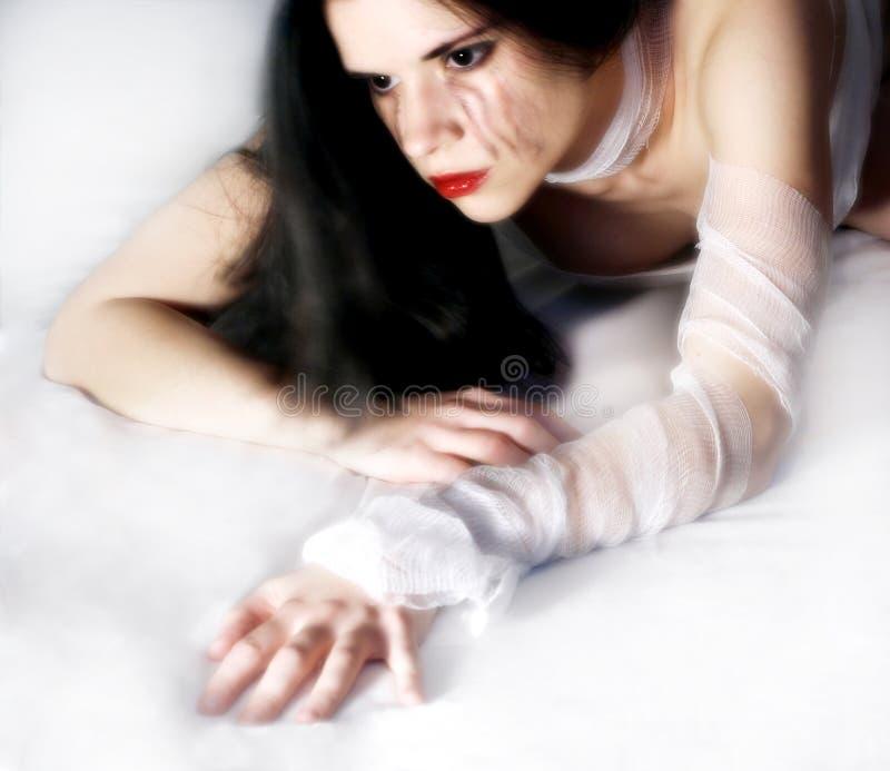 Femme pleurant images libres de droits