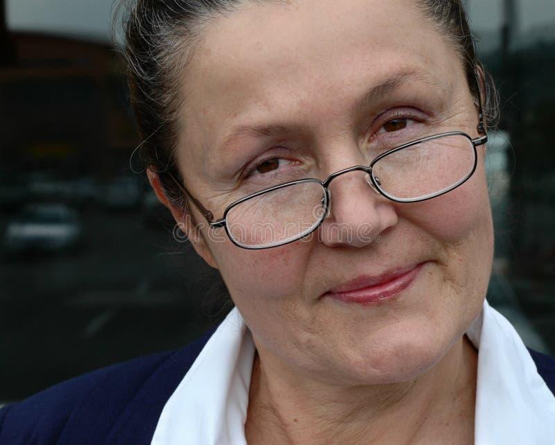 Femme plus âgée attirante image stock