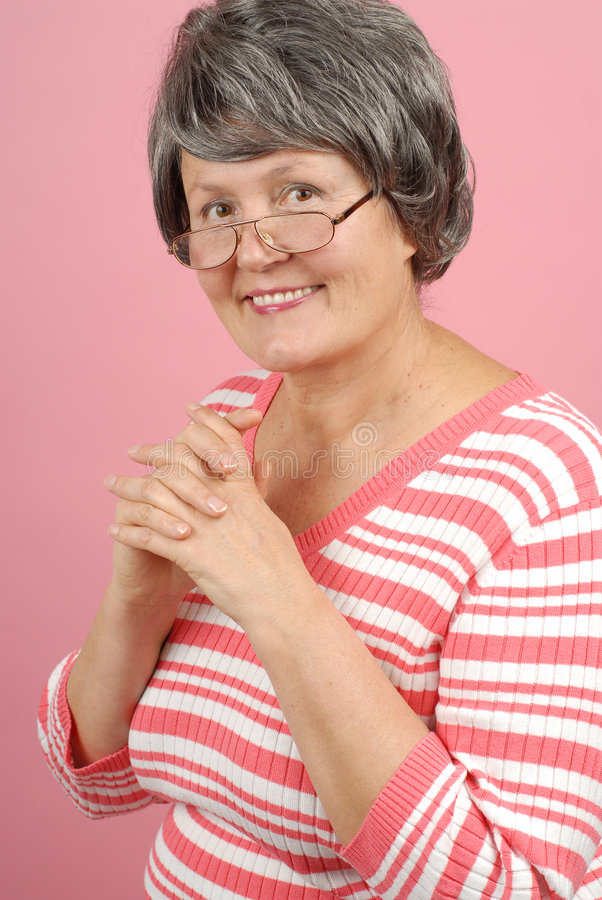 Femme plus âgée réussie photo stock