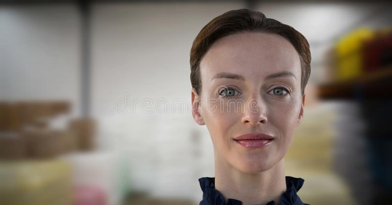 Femme pointue dans le travail photographie stock