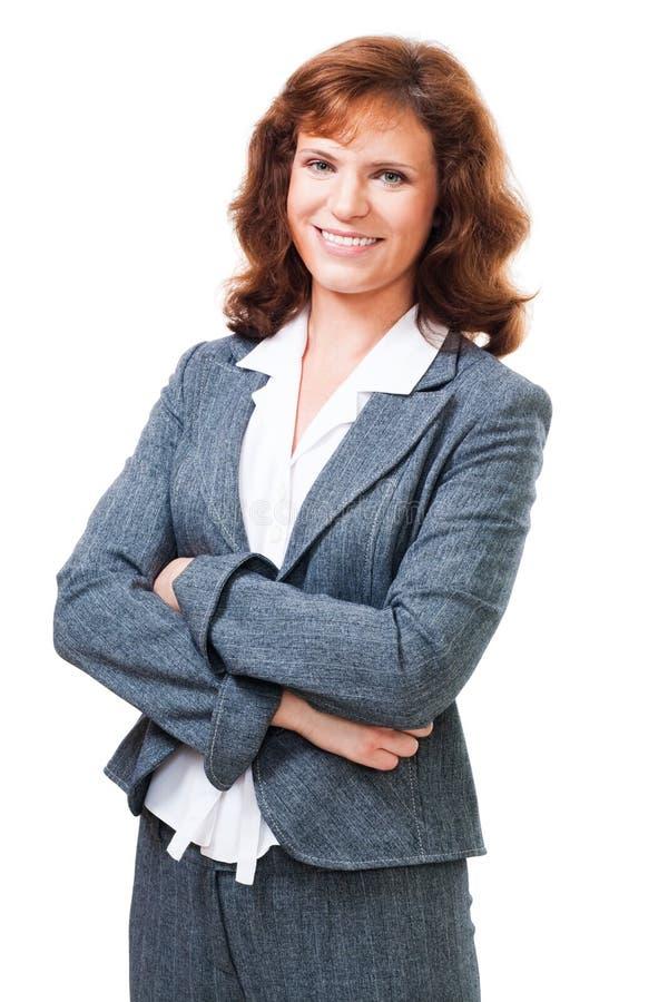 Femme positive heureuse d'affaires photos libres de droits