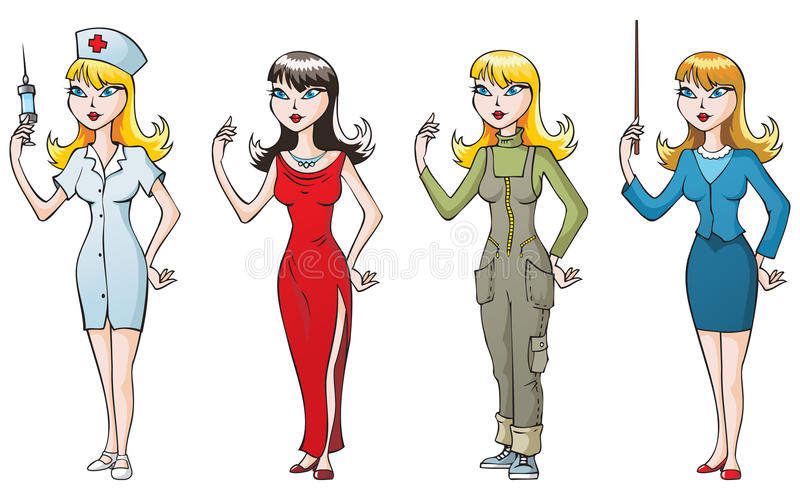 Femme-professionnels illustration stock