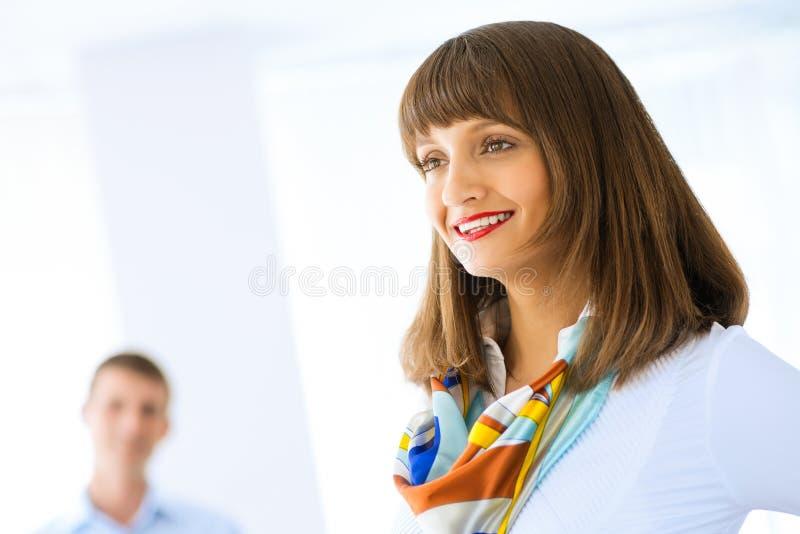 femme réussie de verticale d'affaires images stock