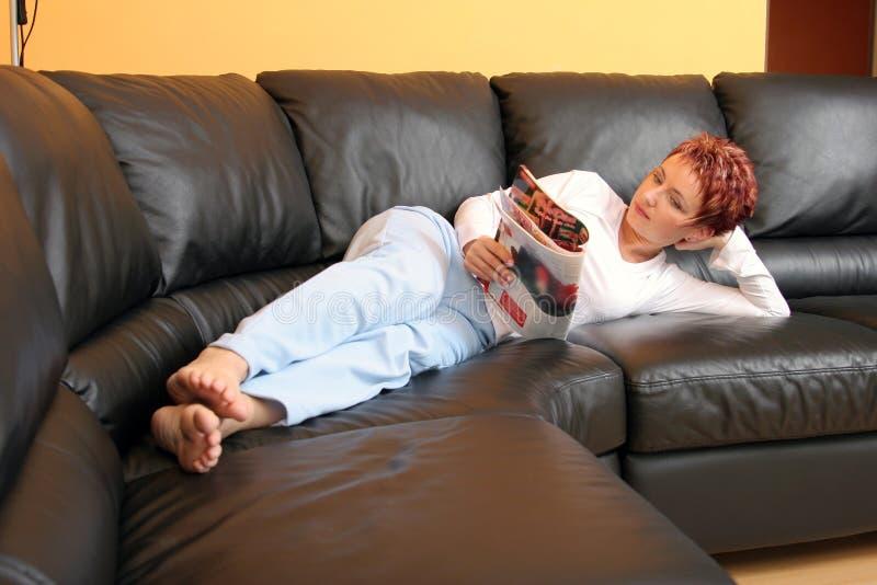 Femme Relaxed photos libres de droits