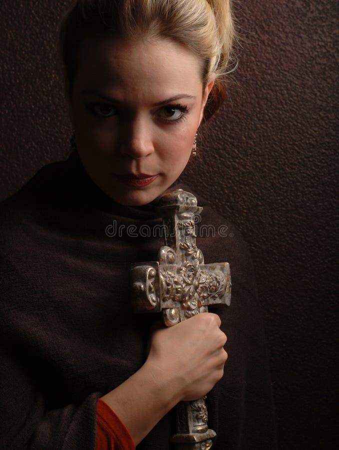 Femme religieux images libres de droits