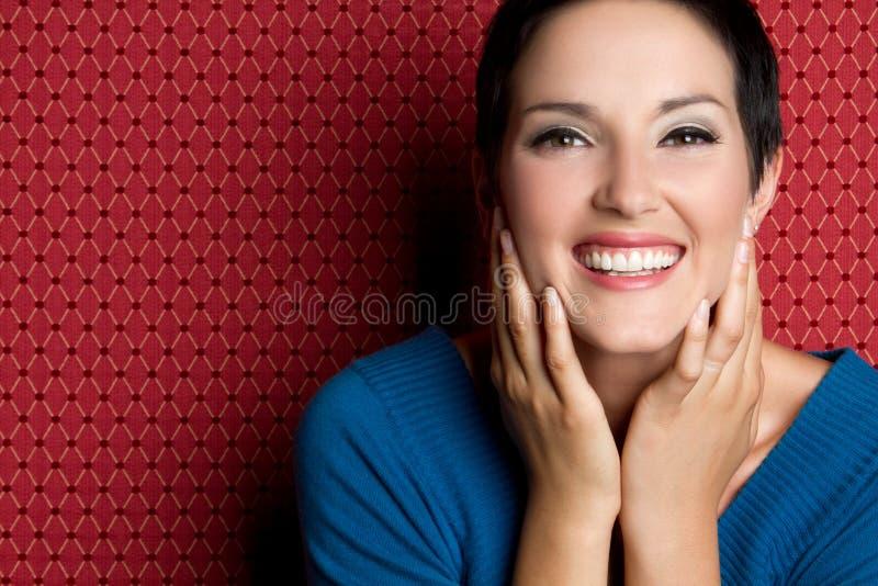 Femme riant photos libres de droits
