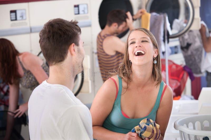 Femme riant photo libre de droits