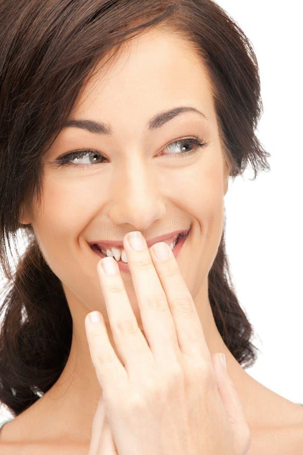 Femme riant images libres de droits