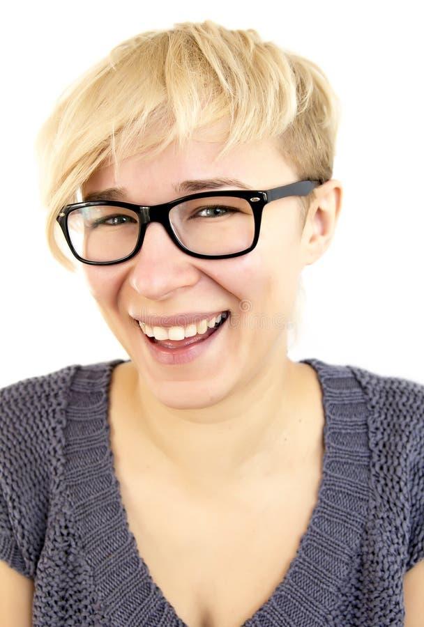 Femme riante images libres de droits