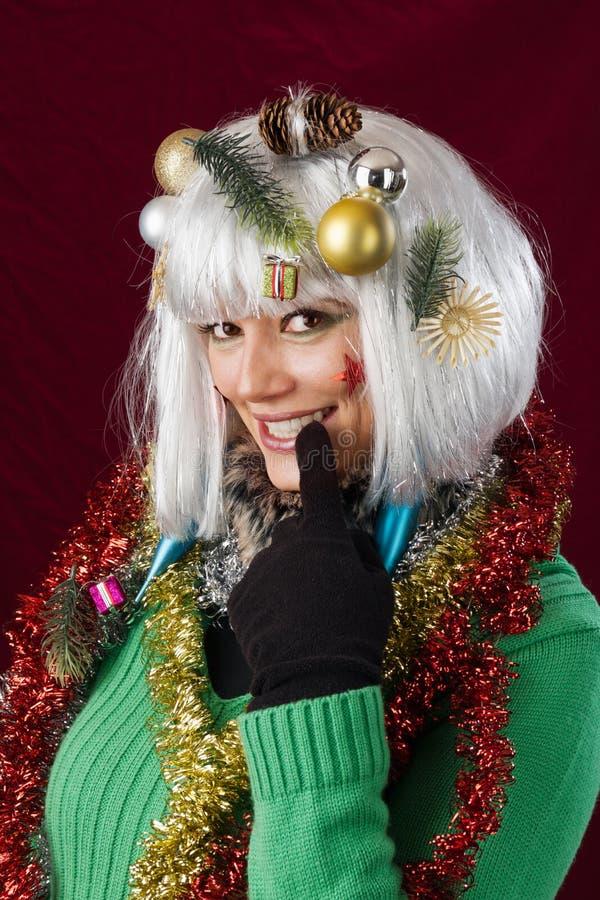 Femme séduisante de Noël images stock
