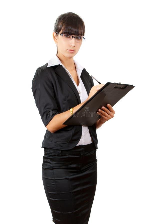 Femme sérieuse d'affaires. images libres de droits