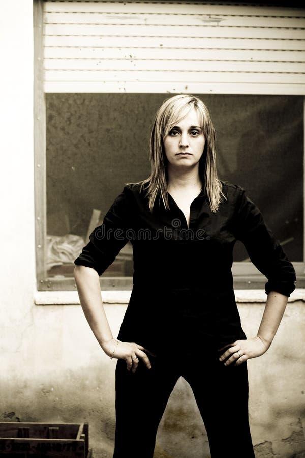Femme sérieux images stock