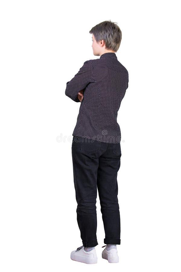 Femme sûre de vue de côté photos stock