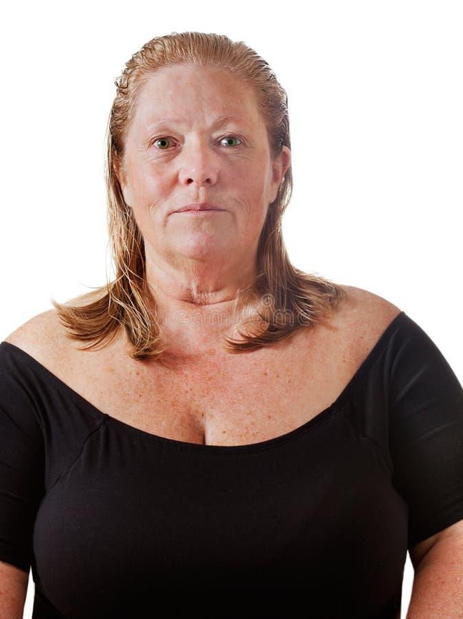 Femme s'approchant de 60 image libre de droits